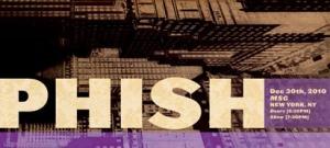 Phish 12/30/2010 Ticket Stub