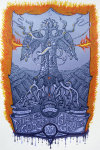 Official Burlington, VT Poster by David Welker. 12x20, Limited Run of 95 © Mike Gordon 2011.