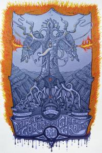 Official Burlington, VT Poster by David Welker. 12x20, Limited Run of 95 © Mike Gordon 2011.